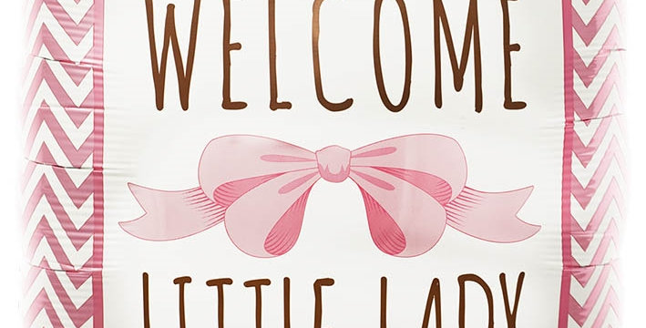 Welcome Little Lady Helium Ballon Geboorte