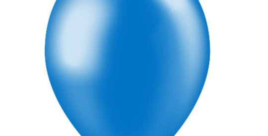 Metallic Helium Ballon Koningsblauw inclusief Helium en Lintje