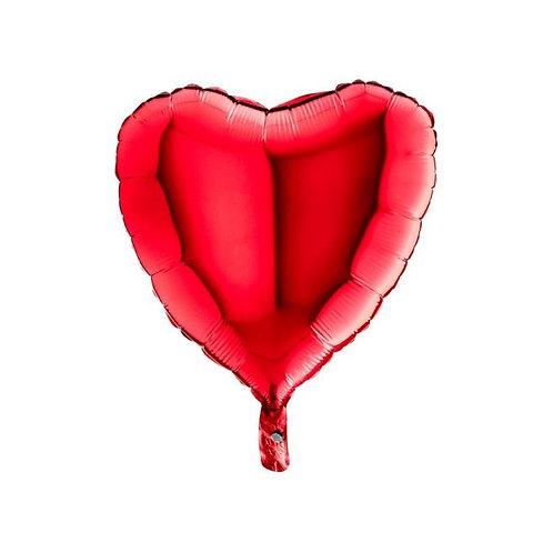Folie Hart Ballon rood
