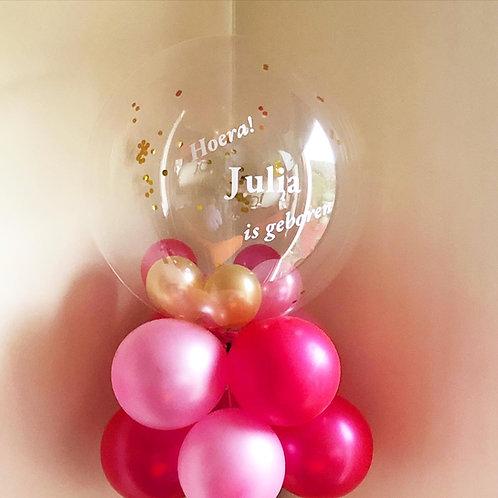 Eigen tekst Clear Bubble Balloon