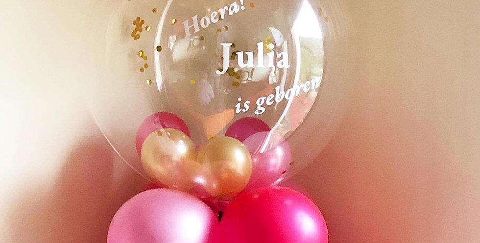 Eigen tekst Clear Bubble Balloon Helium Ballon