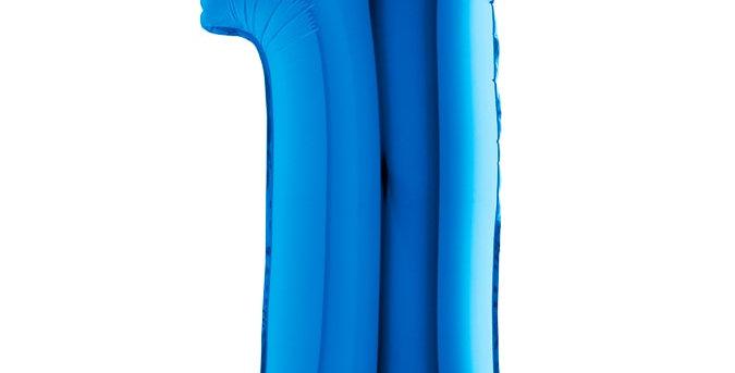 Cijfer Ballon 1 blauw Almere bestellen