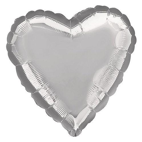 Helium Ballonnen bestellen Almere 7 dagen per week van 09:00 uur tot 22 uur 0610457111 Hart Zilver Folie Helium