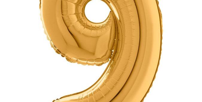 Cijfer Ballon 9 Goud Almere bestellen