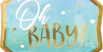 Oh Baby Blauw ! 45 cm Inclusief Helium en Lintje