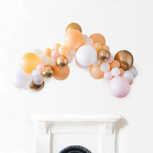 Organic Ballonnenwolk PEACH & GOLD +/- m 1.40 m