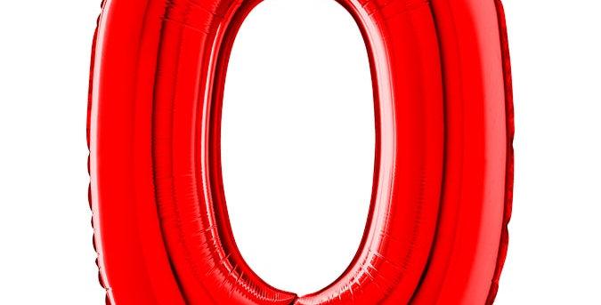 Cijfer Ballon rood 0 Almere bestellen