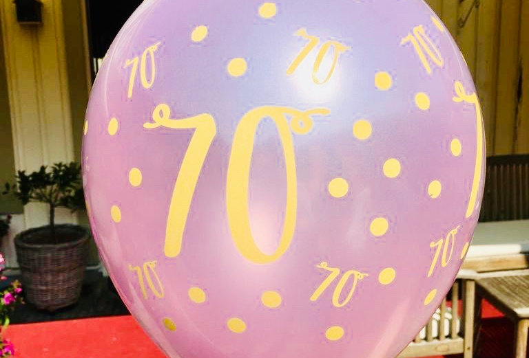 Jubileum cijfers Metallic Helium Ballon Trend Line