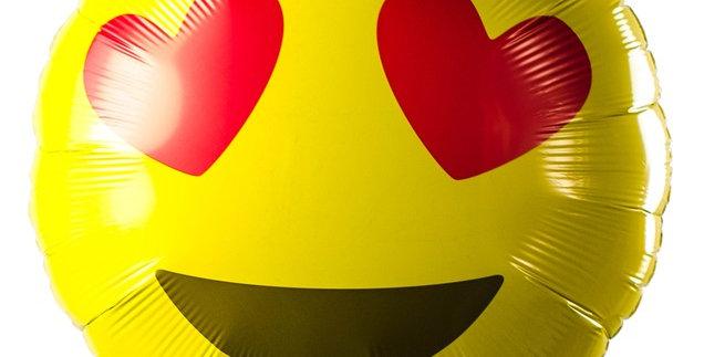 Helium Ballonnen Almere bestellen Emoticon hartjes