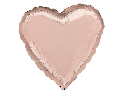 Folie Hart Ballon rose goud