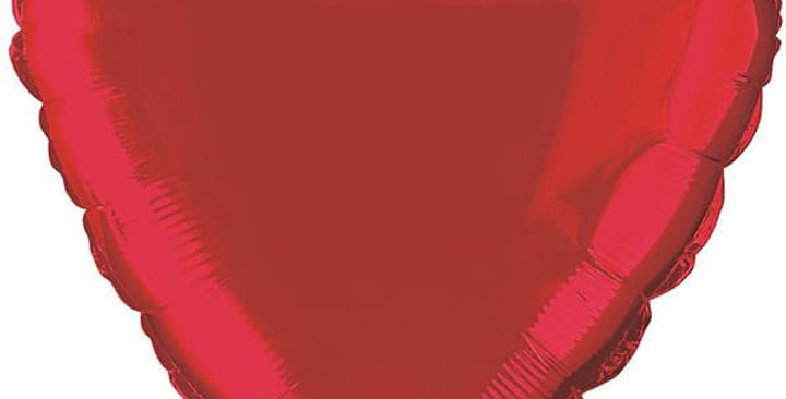 Folie Hart Helium Ballon rood inc Helium 40 cm