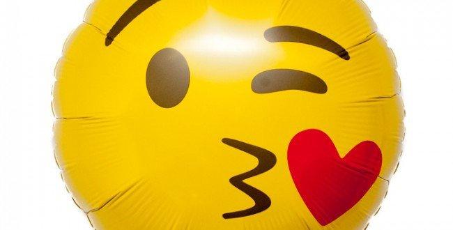 Kussende Emoticon 45 cm Helium ballon folie