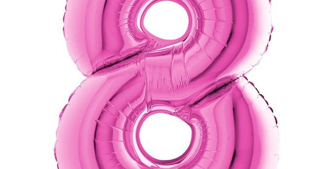 Cijfer Ballon 8 roze Almere bestellen