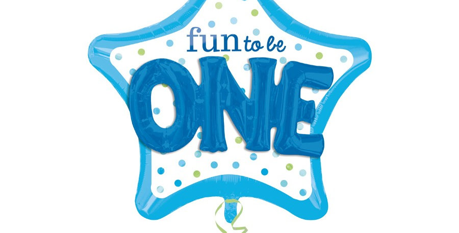 Fun To Be One 3D Effect Blauw Helium Ballon folie 91 cm!