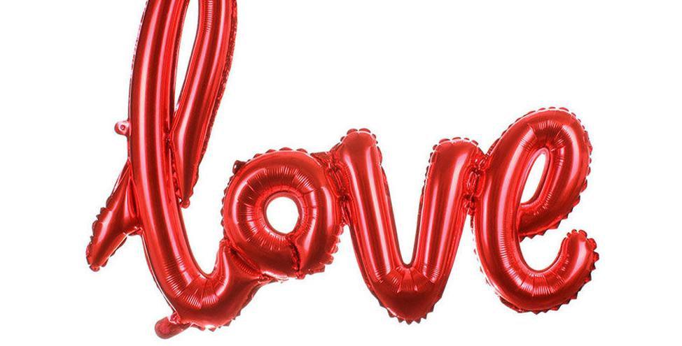 'Love' 100 cm kan alleen met lucht