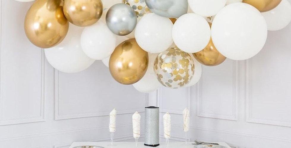Organic Ballonnenwolk VIP GOLD & ZILVER +/- m 1.40 m