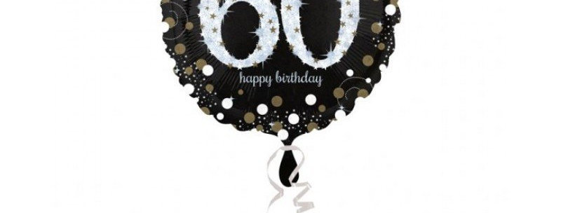 Verjaardag ballon 60 jaar almere