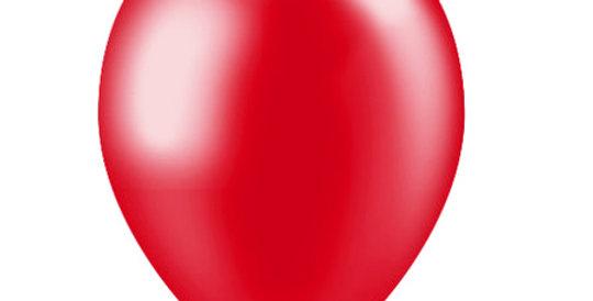 Helium Ballon Metallic  Rood Inc Helium en Lintje