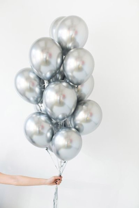 Tros Super Zilver TrosVIP Special Serie Helium Ballonnen,9 stuks inc helium