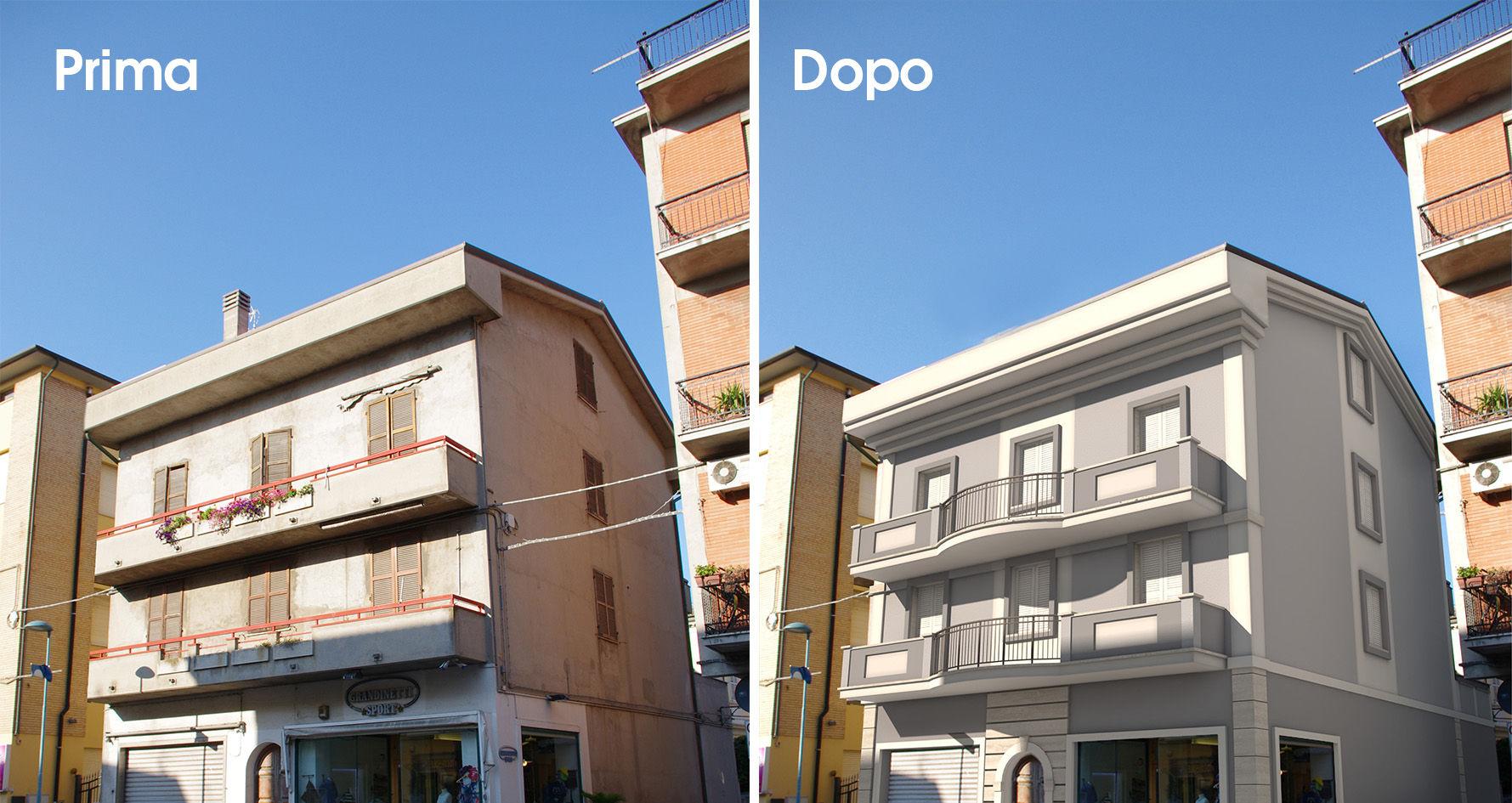 Fotomontaggio casa