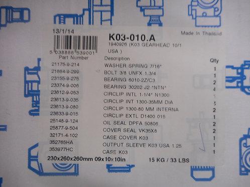 Radicon K03-010.A – Gearhead Size 3