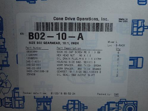 Cone Drive B02-10-A Size B02 Gearhead, 10:1 Ratio