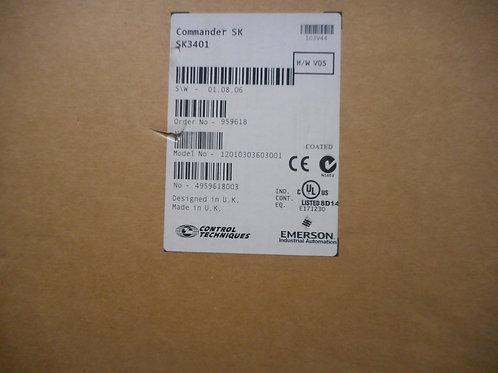 Control Techniques SK3401 – Drive 25HP, 480V, 32A