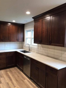 kitchen remodel counter and sink
