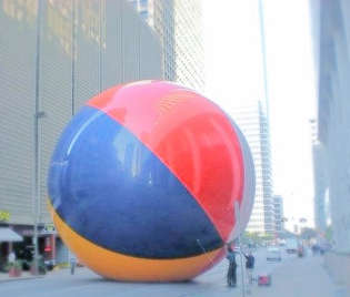 Guiness Book of World Record's record for biggest beach ball