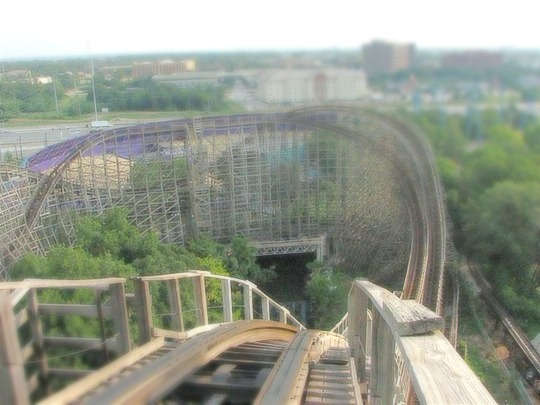 Texas Giant roller coaster at Six Flags