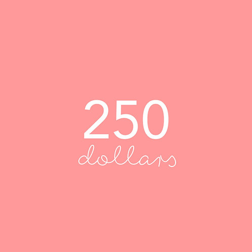 Two hundred & fifty dollar voucher