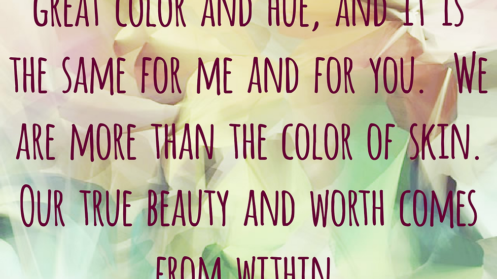 The World's Beauty is Color Diversity