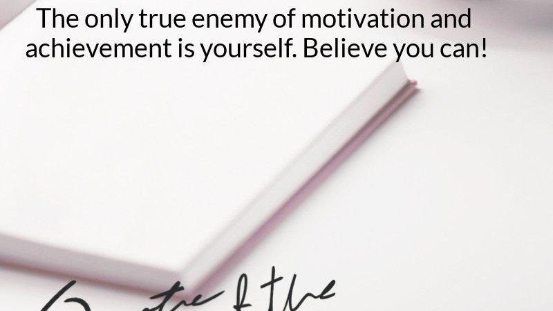 The True Enemy of Achievement