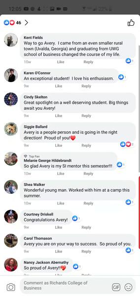 RCOB: Facebook Student Feature