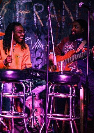 Jordyn having fun on the drums. @1.ventura