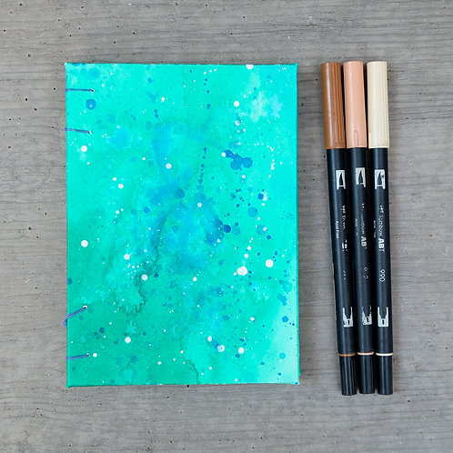 Handmade Journal / Green Speckle / 5 X 7
