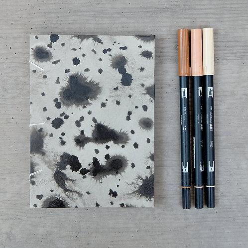 Handmade Journal / Black Dot / 5 X 7