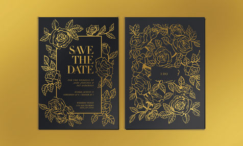 Pen and Ink Floral Wedding Invites