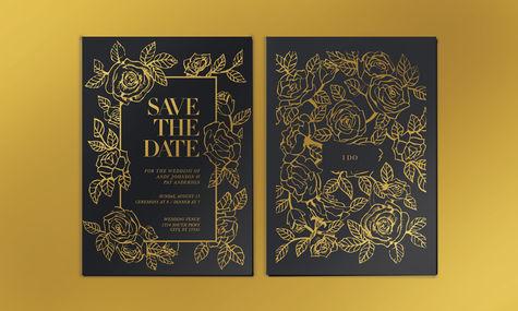 Foil Stamp Marriage Invite
