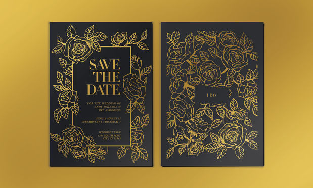 Foil Stamp Marriage Invite