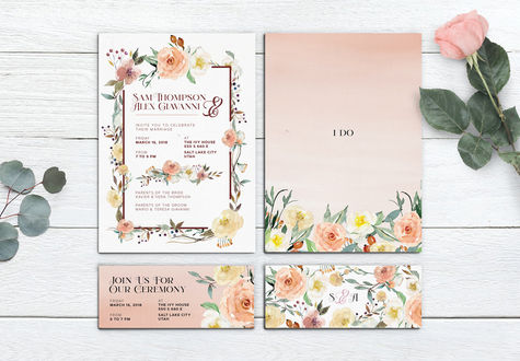 Marriage Invite & Ceremony Card
