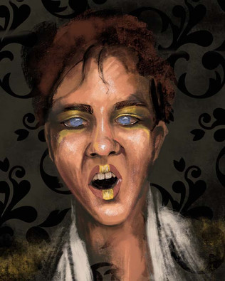 Mel Wise Vampire Sketch