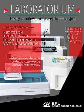 """Leasing aparatury analitycznej i pomiarowej dla laboratoriów medycznych, farmaceutycznych, biotechnologicznych, biologicznych : analizator immunochemiczny, analizator koagulologiczny do wykonania testów metodami krzepnięciowymi, chromogennymi oraz immunologicznymi,  z wykorzystaniem technologii elektrochemiluminescencji (ECL), analizator biochemiczny przeznacznony do badań """"in vitro"""" w laboratoriach klicznicznych, monitoringu leków i uzależnień w płynach ustrojowych człowieka, analizator do oznaczeń parametrów fizykochemicznych moczu, analizator hematologiczny, mikroskop Olympus, mikroskop Nikon skaningowy mikroskopy elektronowy, mikroskop  z przystawką kontrastowo-fazową, kamera Basler scout,wirówka serologiczna do metody mikrożelowej, zestaw do ELISA, Europejski Fundusz Leasingowy."""