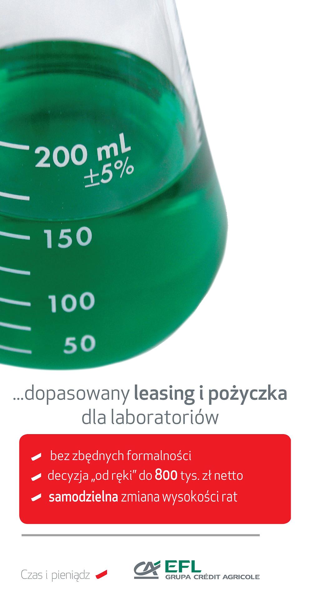 Autoryzowany Przedstawiciel EFL Kraków oferuje doradztwo przy finansowaniu leasingiem sprzetu i aparatury laboratoryjnej, analitycznej, pomiarowej dla laboratoriów i jednostek badawczo rozwojowych, jednostek kontroli