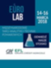 XX Międzynarodowe Targi Analityki i Technik Pomiarowych EuroLab 2018 Warszawa 14-16 marca wystawca Europejski Fundusz Leasingowy SA leasing aparatury pomiarowej, analitycznej, diagnostycznej, medycznej dla laboratoriów medycznych, analitycznych, diagnostycznych, kontroli jakości