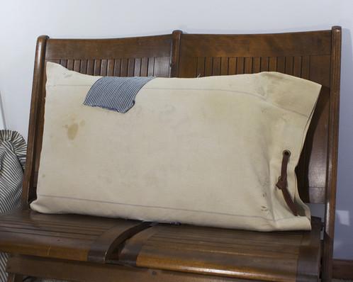 Primitive Farmhouse Pillow Cover Blue Stripe Vintage Grain Seed Gorgeous Primitive Pillow Covers