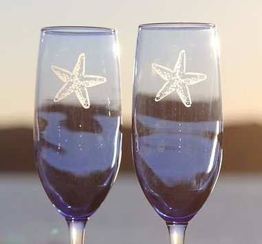 Blue Champagne Glasses