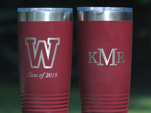 Wheeler 20 oz insulated tumbler
