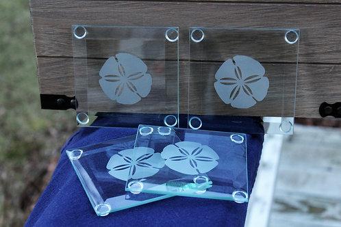 Beveled Glass Coasters (Set of 4)