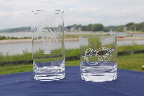Acrylic rocks glasses
